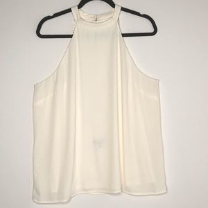 EXPRESS Collar Tank Top W/ Gold Chain Back detail